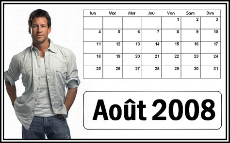 Aout 2008 Calendrier Calendrier 2008