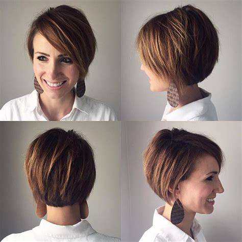 how to style a grown out asymettrical 360 view of growing out a pixie cut lovely locks