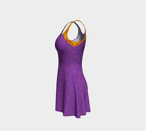 fashion s coolest clash how orange and purple became the colours orange and purple clash flare dress flare dress by cori