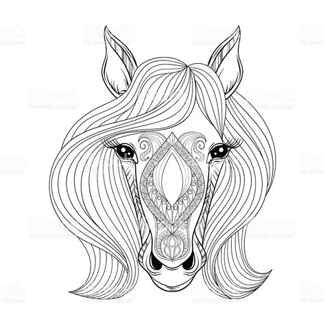 horse coloring pages for girls coloring page of a horse face