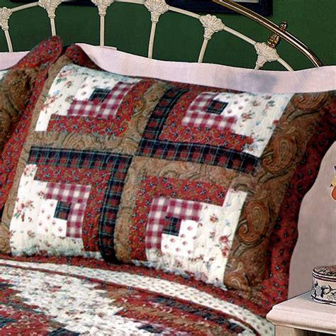 patchwork log cabin ruby log cabin patchwork quilt bedding