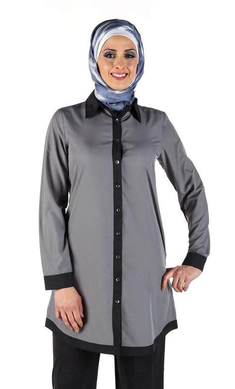 Sakivazra Color Block Tunic Muslim Blouse color block tunic eastessence