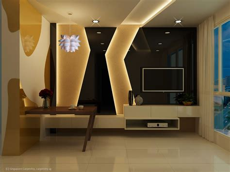 wall wonder interior design living room singapore carpentry
