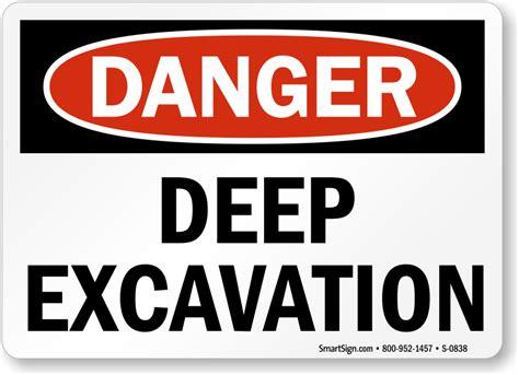 Danger Danger Cowok Size S image gallery excavation signs