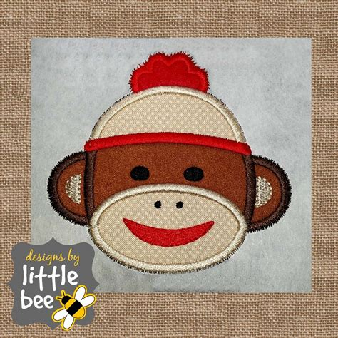monkey applique sock monkey applique designs by bee