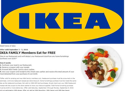 Promo Ikea ikea coupons free breakfast more the 7th at ikea furniture