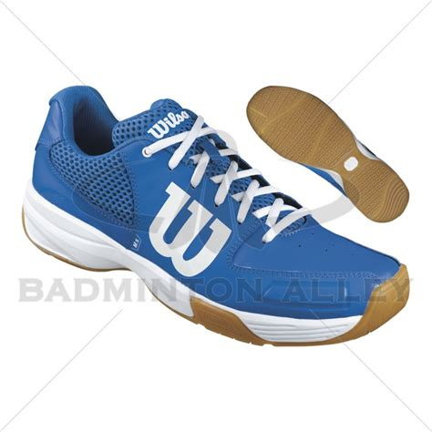 wilson shoes wilson blue white badminton shoes