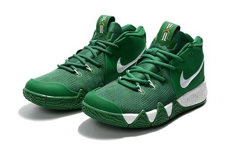 nike green and white basketball shoes nike kyrie 4 green white basketball shoes for sale