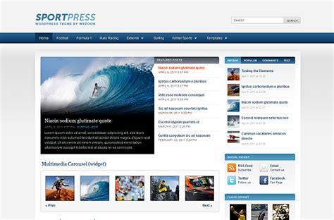 blogger themes sport wp zoom launches wordpress sports theme sportpress