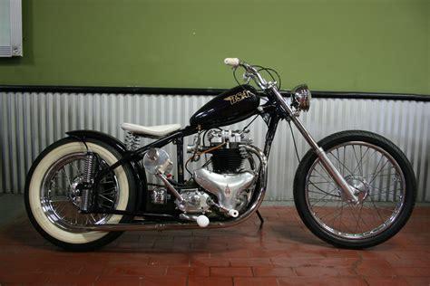 1952 bsa a10 golden flash bobber custom chopper norton triumph look