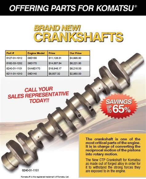 Bearing 6207 Abc crankshafts for komatsu costex tractor parts