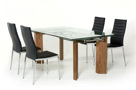 modrest helena modern extendable glass dining table