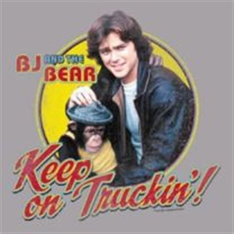 Bj And Keep On Truckin Retro Tv S Black T Shirt Size M bj and the on trucks disco birthday and truck drivers
