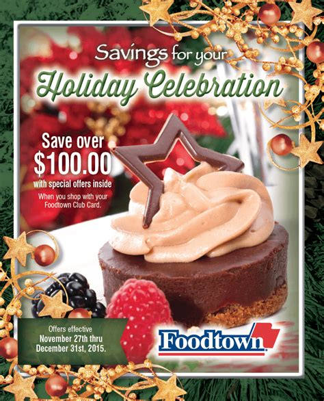 Foodtown Gift Card - savings for your holiday celebration foodtown