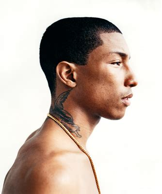 pharrell neck tattoo pharrel i a thing for guys with neck tattoos l o
