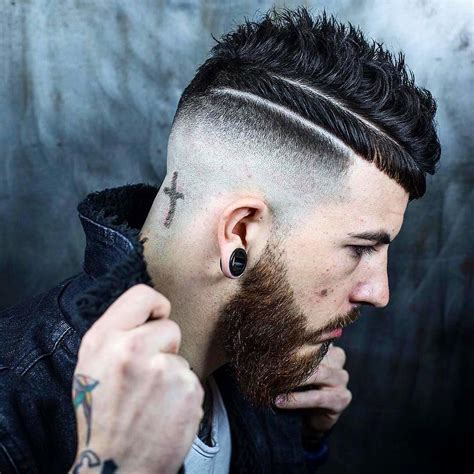 coupe de cheveux homme barbe 40 fabulous high top fade haircuts cool fashion trends