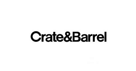 crate and barrel helvetica fans rejoice in crate barrel s new logo