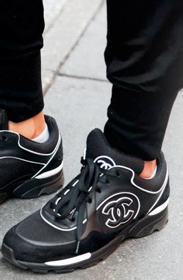 chanel sneakers on