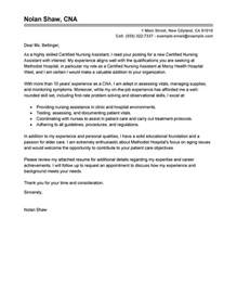 Cna Cover Letter Exle by Leading Professional Nursing Aide And Assistant Cover Letter Exles Resources