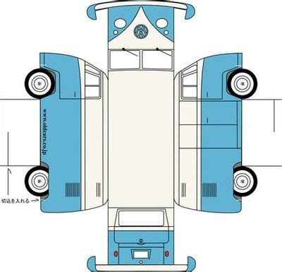 printable paper car template printable vw bus papercraft juxtapost