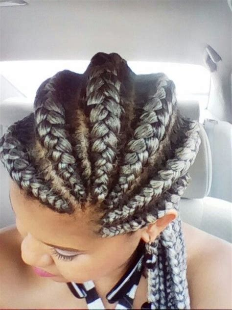 silver cornrow ponytail 17 best images about hair on pinterest ghana braids