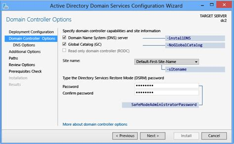 install  replica windows server  domain controller