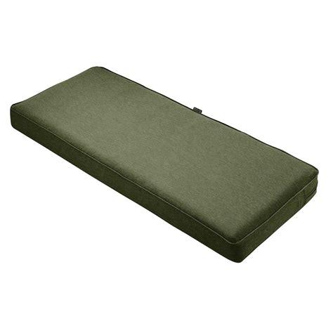 bench padding hton bay jovie tufted outdoor bench cushion je12393b