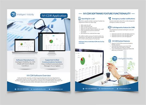 flyer design software online upmarket professional voip flyer design for intelligent