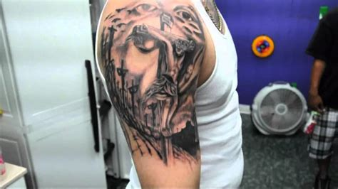 jesus tattoo youtube illusion jesus tattoo youtube