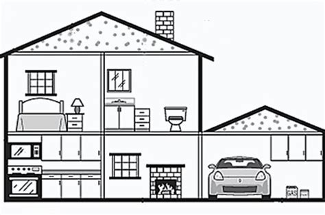 Drawing Of A House With Garage drawing of a house modern house