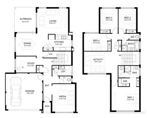 two floor house plans luxury 2 home floor plans
