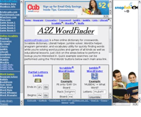 a2z scrabble word finder a2zwordfinder a2z wordfinder word pattern matching