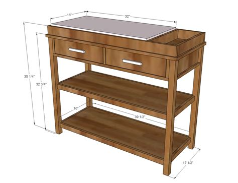 Ana White Ultimate Changing Table Diy Projects Changing Table Dimensions