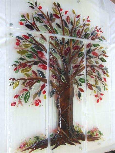 glass wall murals quot tree of quot fused glass wall mural designer glass mosaics designer glass mosaics