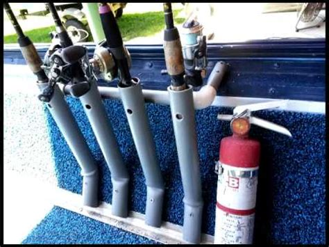 multiple fishing rod holders for boats diy fishing rod holder for boat youtube