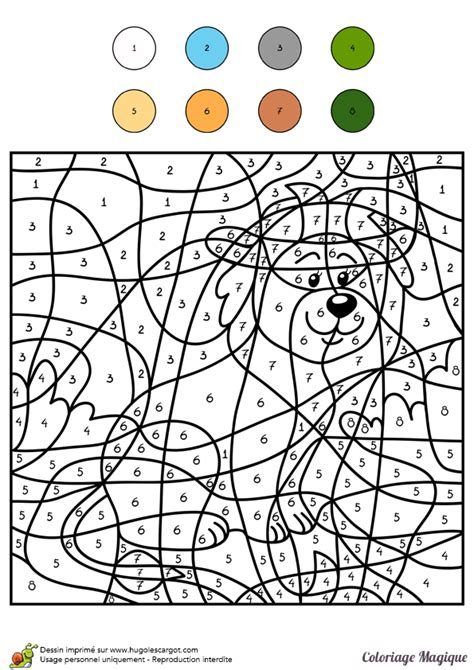 Coloriage Magique Niveau Cm1 D Un Lion D Afrique