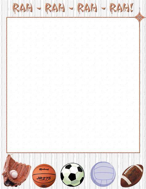 printable baseball stationery paper kids sports stationery themes page 1