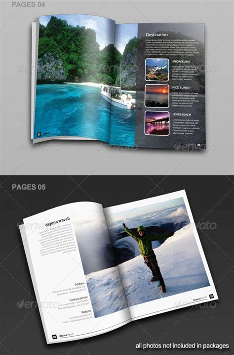 contoh desain brosur tour and travel 17 desain brosur tour dan travel template download premium