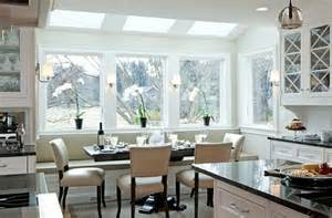 White Window Seat - 22 stunning breakfast nook furniture ideas