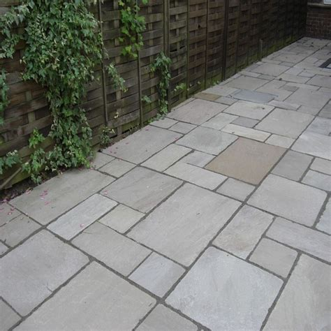 Indian Patio Slabs by Kandla Grey Indian Sandstone Calibrated Patio Paving Slabs Pack 18 5m2 600x900 22mm