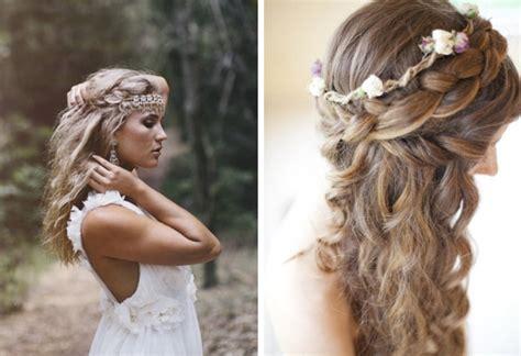 hairstyle wedding bridal inspirations boho bride hair inspiration