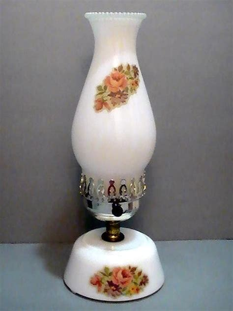 vintage floral hurricane l vintage milk glass hurricane l with floral