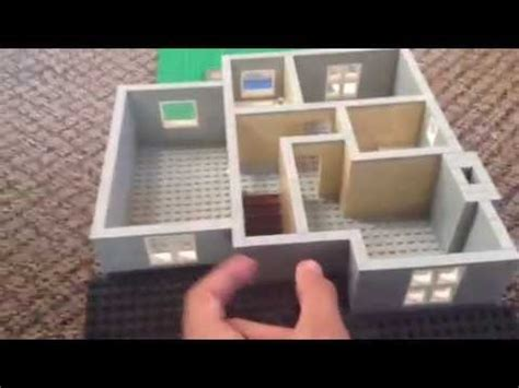 how to build a 2 story house 32 stud wide 2 story lego home moc youtube