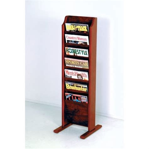 Free Standing Magazine Rack by Wooden Mallet Free Standing 7 Pocket Magazine Rack In Mahogany Mr7 Fsmh