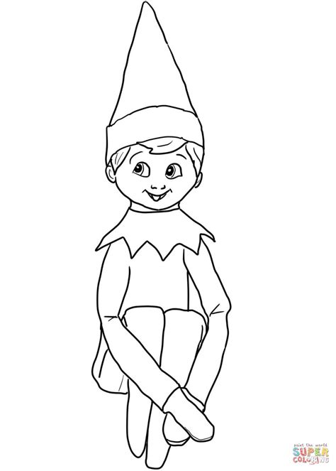 elf size coloring page elf on the shelf coloring page search results calendar