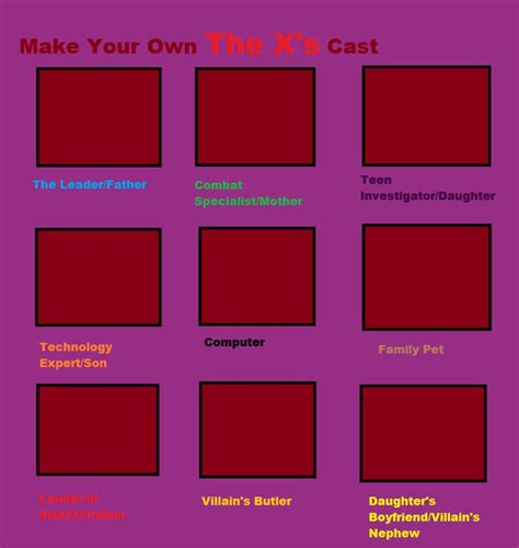 make your own template make your own x s cast template by beekbeek85 on deviantart