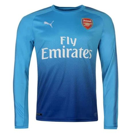 New Jersey Arsenal Away 20172018 arsenal away sleeve soccer jersey 2017 2018 187 sky goal