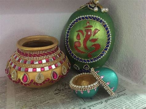Decorated Pots For Wedding   Decoration For Home