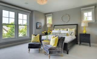 Yellow And Grey Master Bedroom by How You Can Use Yellow To Give Your Bedroom A Cheery Vibe
