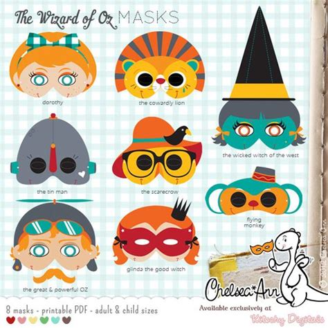 printable wizard mask the wizard of oz masks printable the wizard of oz party